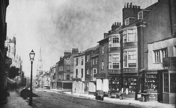 High West Street, Dorchester. Photographed in 1861.