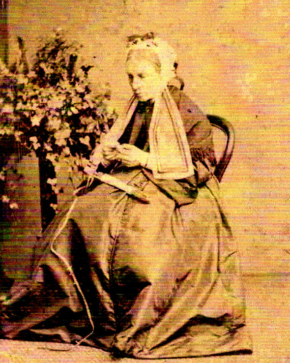 Photo of Elizabeth Henrietta (nee Wilson) Salkeld 1802-1879 the wife of the Revd. Robert Salkeld.