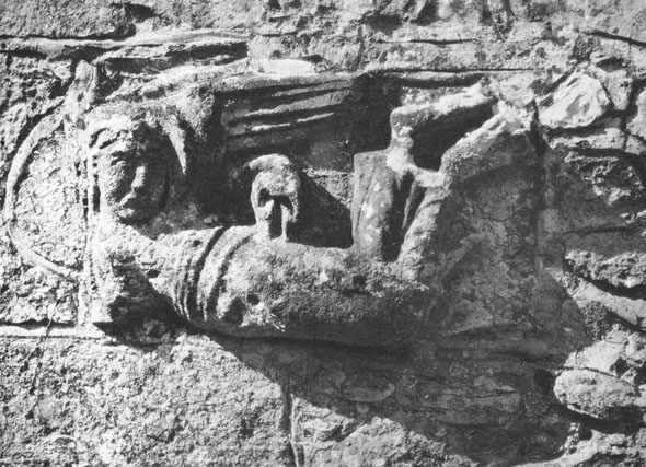 Sculpture of the Archangel Michael at St. Michael's Church, Winterbourne Steepleton. Thought by Pevsner to date from the 10th century.