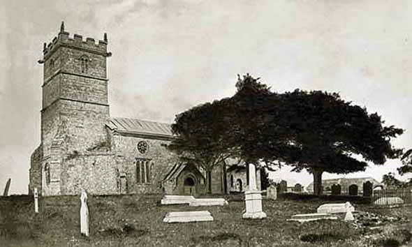 Early photo of St. Mary's Church, appears to have been taken before restoration work in 1877.