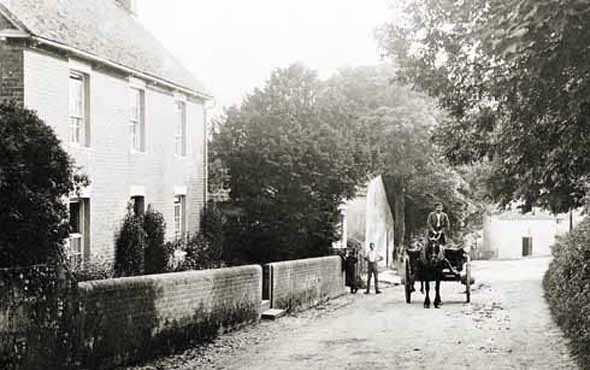 Sixpenny Handley village about 1910