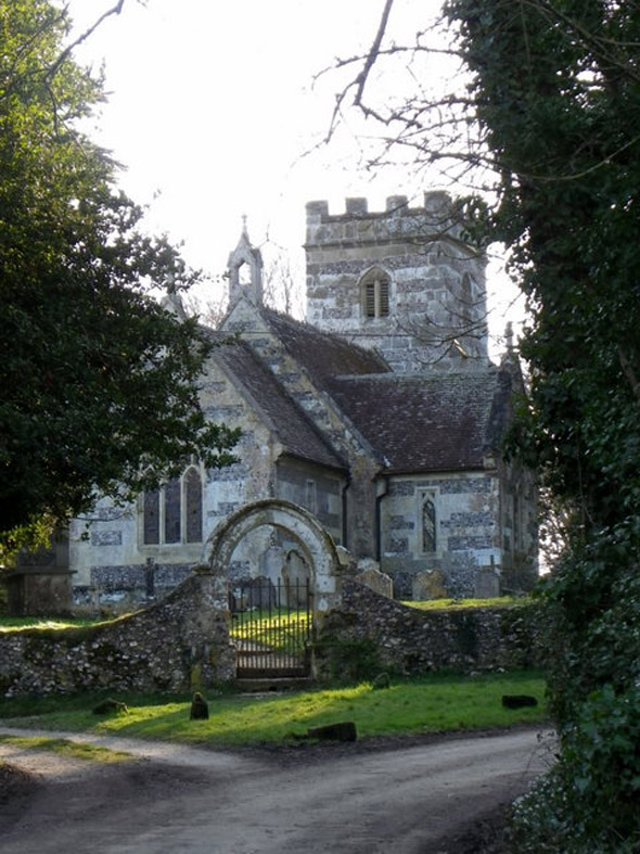 St. Mary's Church at Chettle. Photo by Trish Steel, for more about the photographer click on the image.