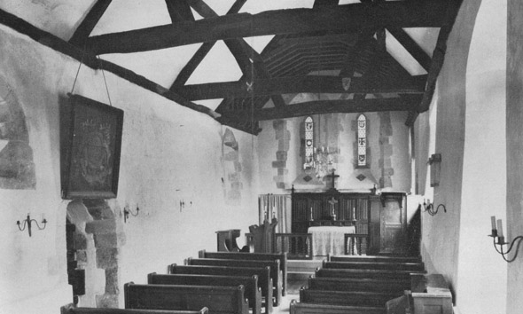 Photo of the interior of St. Andrew's, taken mid 20th century