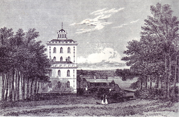 Brownsea Castle from a drawing by J P Neale 1830