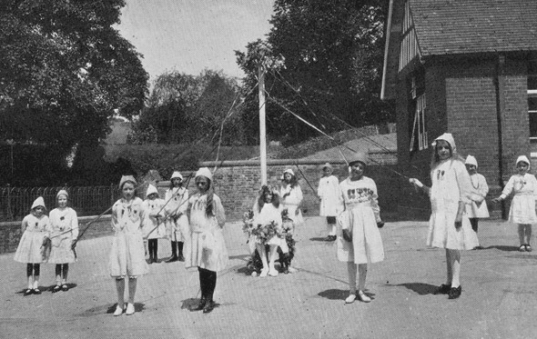 Dancing round the Maypole 1918