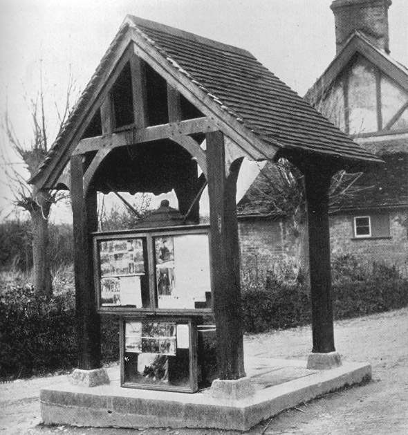 The Village Pump was used as a message board during WWI